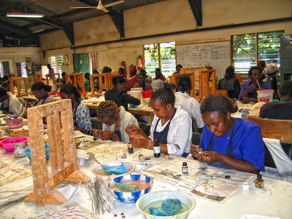 Women at Kazuri Beads